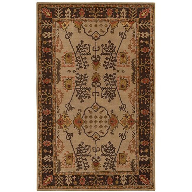 Hand-tufted Antique Beige Wool Rug (8' x 11')