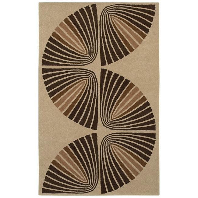Hand-tufted Swirl Wool Rug - 8' x 10'6