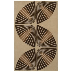 Hand-tufted Swirl Wool Rug - 8' x 10'6 - Thumbnail 0
