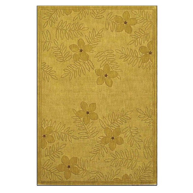 Hand-tufted Metro Lemon Wool Rug (8' x 10'6)