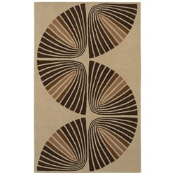 Hand-tufted Swirl Wool Rug - 5' x 8' - Thumbnail 0