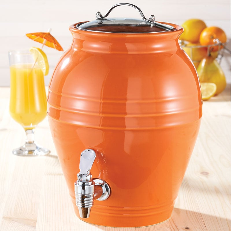 American Atelier Honey Pot Orange Peel 203-oz Beverage Dispenser
