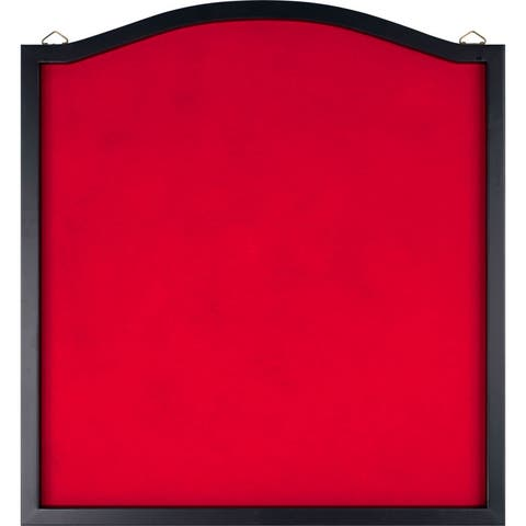 Dart Backboard - Wood Frame and Felt Wall Protector and Board Surround by Trademark Games (Black and Red)