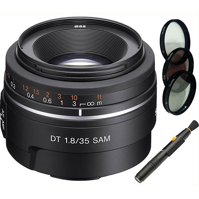 Sony SAL35 F1.8 Wide Angle Lens/ Filter Set/ Lens Cleaning Pen Kit