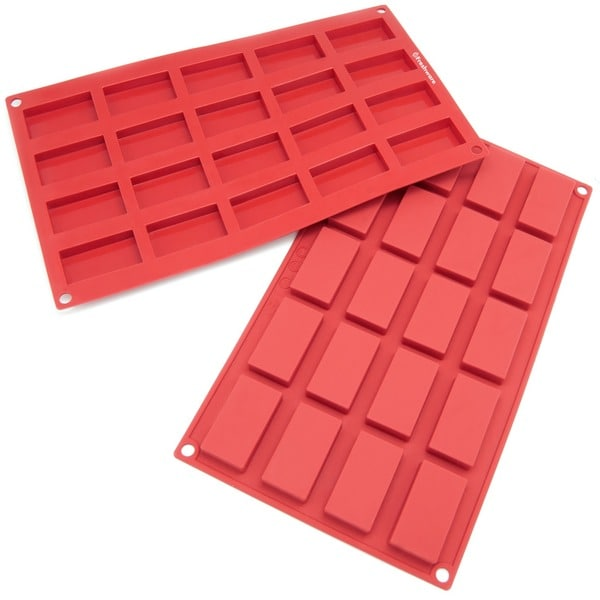 Freshware 20-cavity Mini Financier Silicone Mold/ Baking Pans (Pack of 2)