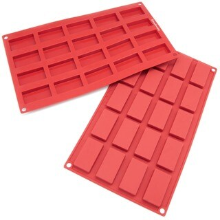 Freshware 20-cavity Mini Financier Silicone Mold/ Baking Pans (Pack of 2)