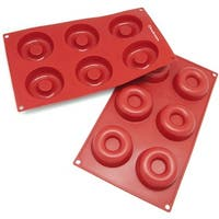 Freshware 6-cavity Savarin and Donut Silicone Mold/ Baking Pans (Pack of 2)