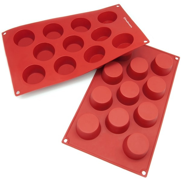 Freshware 11-cavity Silicone Mold/ Baking Pans (Pack of 2)