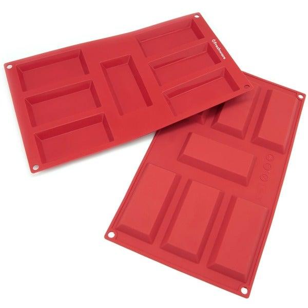 Freshware 7-cavity Financier Silicone Mold/ Baking Pans (Pack of 2)