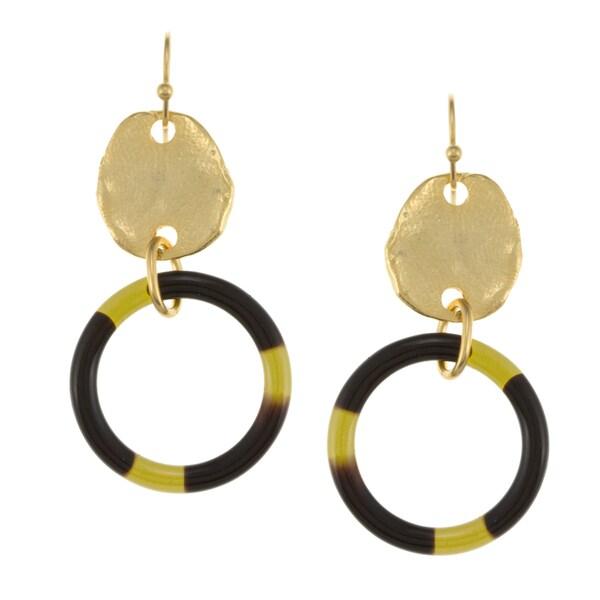 Goldplated Tortoise Resin Earrings