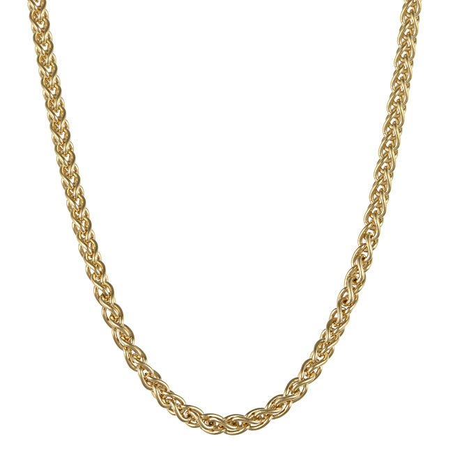 Roberto Martinez Yellow Gold Plated Silver 18-inch Wheat Chain