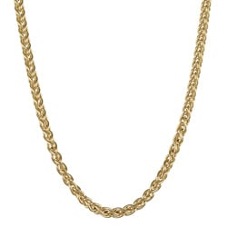 Sterling Essentials 14k Gold Overlaid Silver 18-inch Wheat Chain