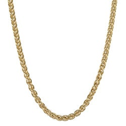 Roberto Martinez Yellow Gold Plated Silver 18-inch Wheat Chain - Thumbnail 0