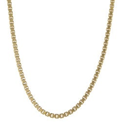 Sterling Essentials 14K Gold over Silver 18-inch Box Chain Necklace