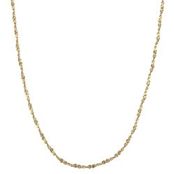 Sterling Essentials 14KGold over Silver 18-inch Twisted Serpentine Chain Necklace