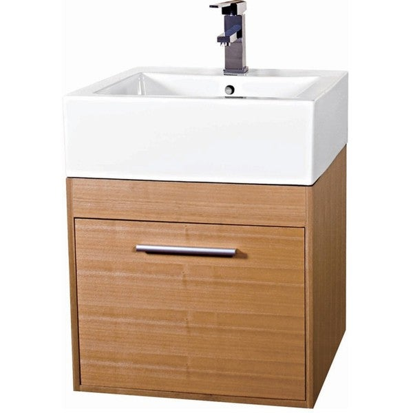 Shop Fine Fixtures Glamour 20 Inch Wood Light Maple White Bathroom