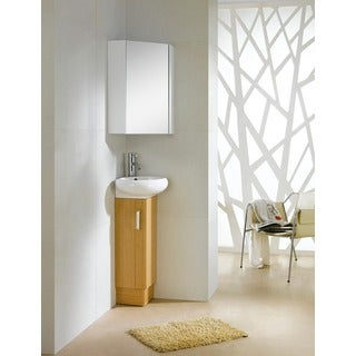 Fine Fixtures Milan 12-inch Wood Yellow Oak/ White Bathroom Vanity