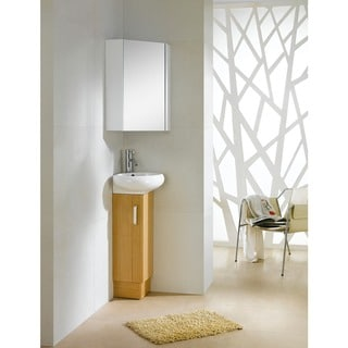 Shop Fine Fixtures Glenwood 17-inch Wood Yellow Oak/ White ...