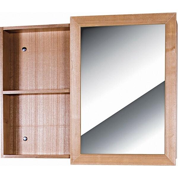 Fine Fixtures Glamour Wood Light Maple Vanity Mirror