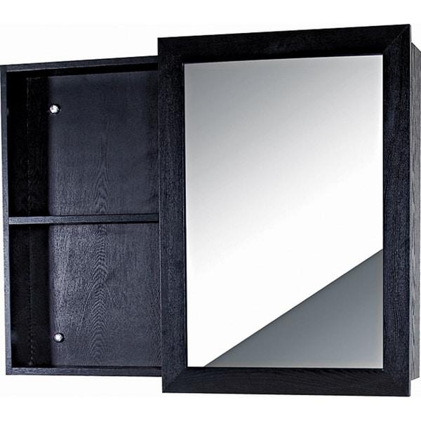 Fine Fixtures Glamour Wood Black Vanity Mirror