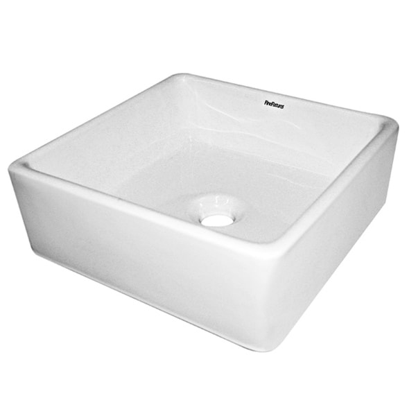 Fine Fixtures Ceramic White Single-Hole Vessel Sink