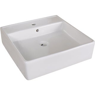 Fine Fixtures Ceramic 18-inch White Vessel Sink