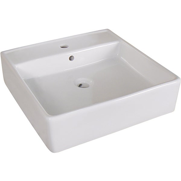Shop Fine Fixtures Ceramic 18 Inch White Vessel Sink