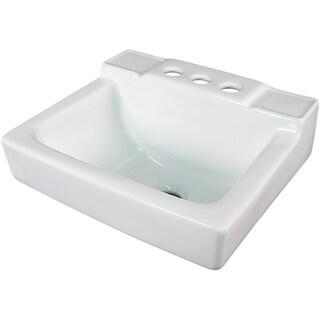 Fine Fixtures Ceramic 14-inch Small White Wallmount Sink