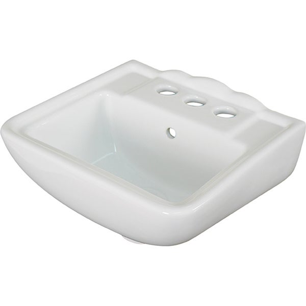 Fine Fixtures Ceramic 12.25 Inch Small White Wallmount Sink