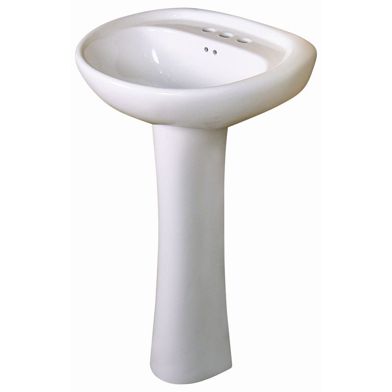 Fine fixtures ceramic white pedestal sink free shipping today