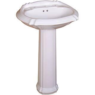 Fine Fixtures Ceramic 22-inch White Pedestal Sink