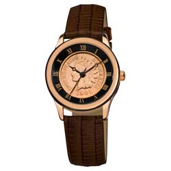 August Steiner Women's Indian Head Penny Collectors Rose Coin Watch