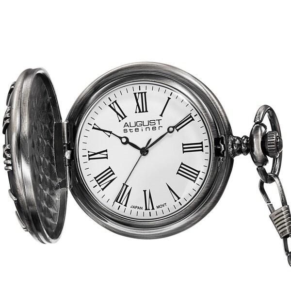 August Steiner Men's Kennedy Half-dollar Antique Silver Pocket Watch