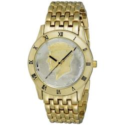 August Steiner Men's Kennedy Half Dollar Gold Watch