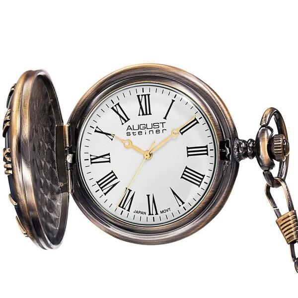 August Steiner Men's Kennedy Half-dollar Antique Gold-Tone Pocket Watch
