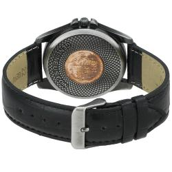 August Steiner Men's Wheat Penny Antique Silver Coin Watch - Thumbnail 1