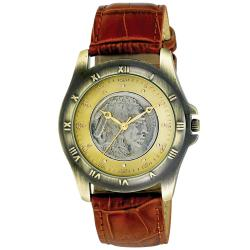 August Steiner Men's Buffalo Nickel Collectors Gold Coin Watch