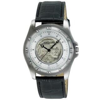 August Steiner Men's Buffalo Nickel Collectors Silver Coin Watch