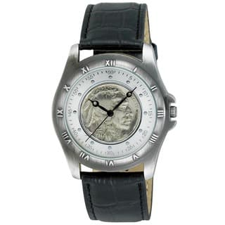 August Steiner Men's Buffalo Nickel Collectors Silver Coin Watch|https://ak1.ostkcdn.com/images/products/5995376/P13683650.jpg?impolicy=medium