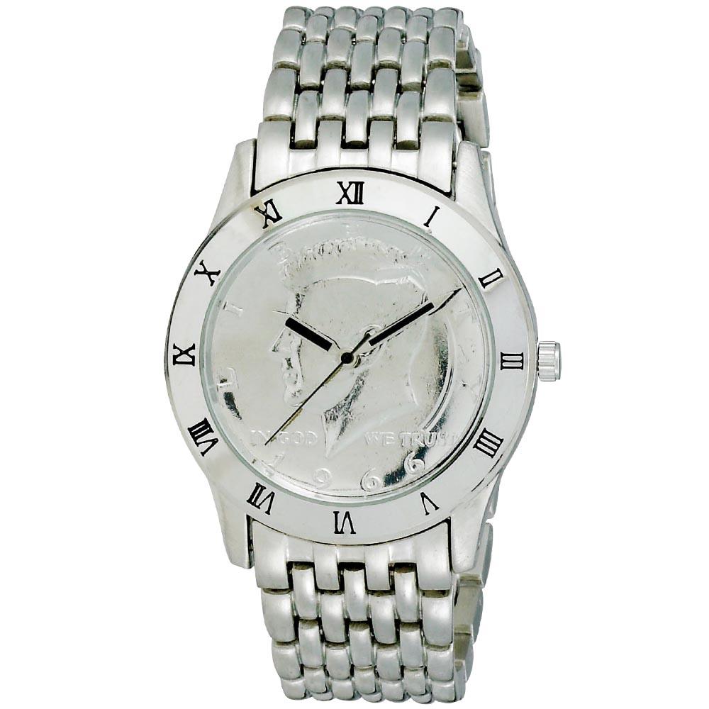 August Steiner Men's Kennedy Half Dollar Silver Watch