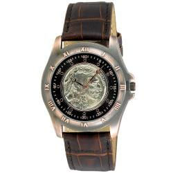 August Steiner Men's Buffalo Nickel Collectors Copper Coin Watch