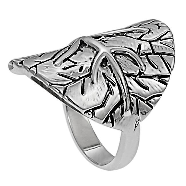 Silvertone Tree Design Ring - Thumbnail 1
