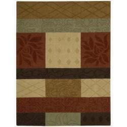 Nourison Hand-tufted Panache Multicolor Floral Rug (8' x 11')