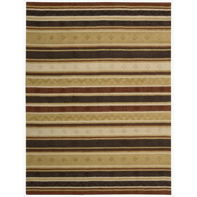 Nourison Hand-Tufted Panache Multicolor Striped Rug (8' x 11')