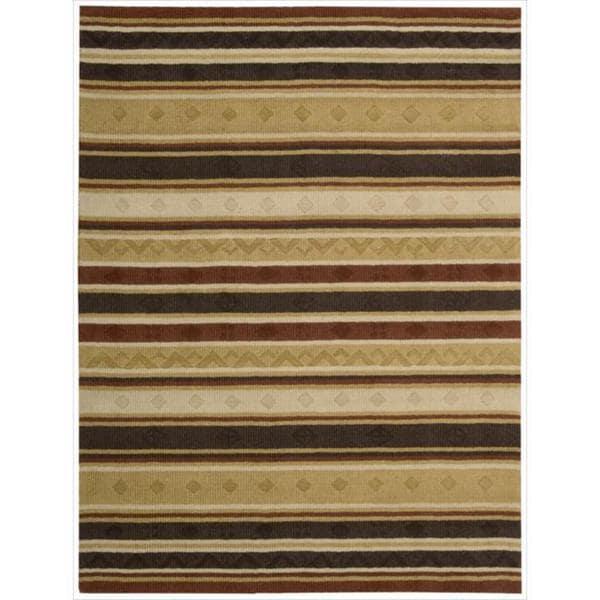 Nourison Hand-Tufted Panache Multicolor Striped Rug - 5'6 x 7'5