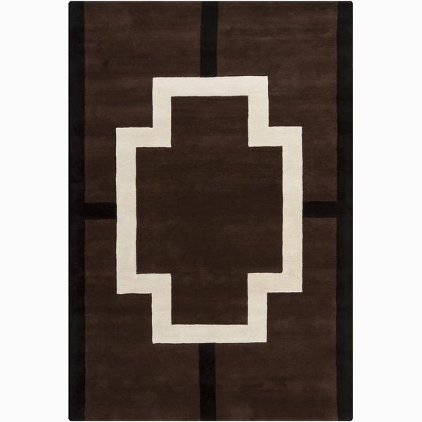 Artist's Loom Hand-tufted Contemporary Geometric Wool Rug - 6' x 9'