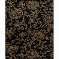 Artist's Loom Hand-tufted Transitional Floral Wool Rug (6'x9') - 6' x 9'