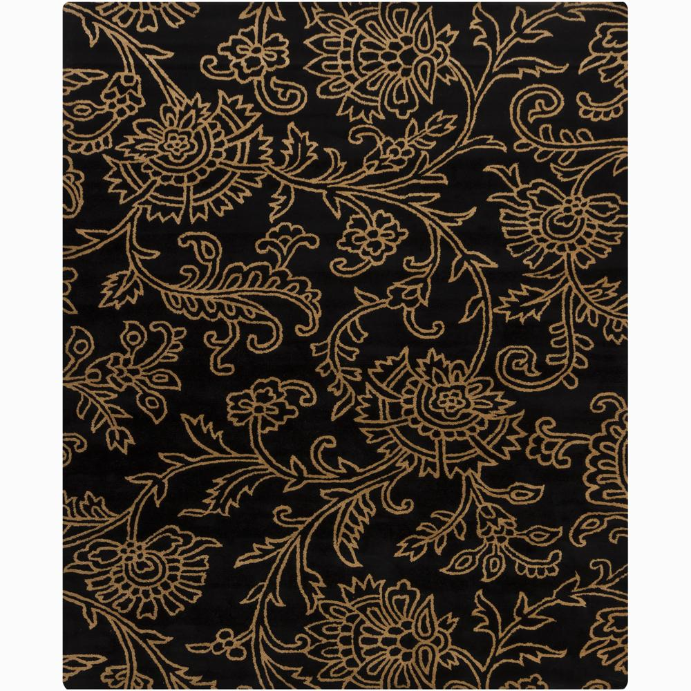 Artist's Loom Hand-tufted Transitional Floral Wool Rug - 6' x 9'