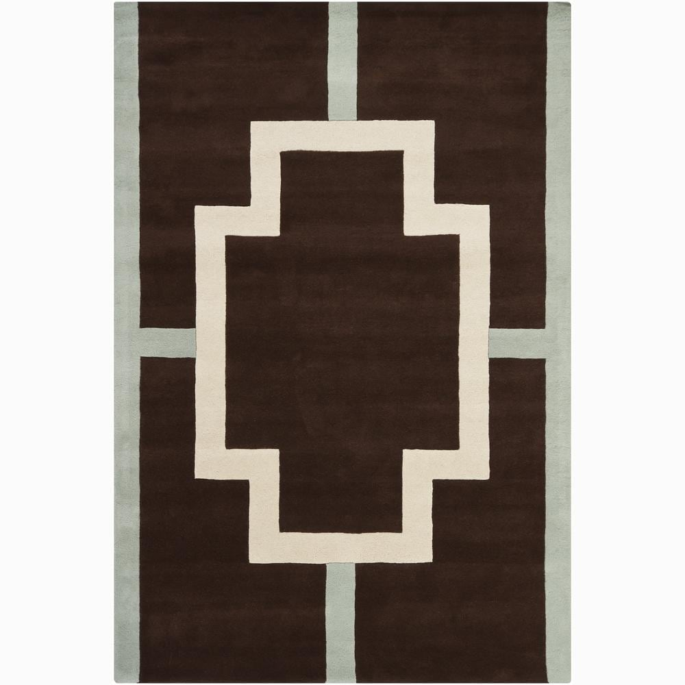 Artist's Loom Hand-tufted Contemporary Geometric Wool Rug - 6'x9'