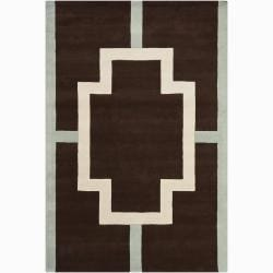 Artist's Loom Hand-tufted Contemporary Geometric Wool Rug - 6'x9' - Thumbnail 0